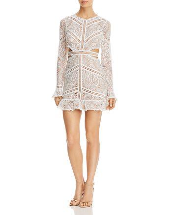 For Love & Lemons - Emerie Open-Back Lace Dress