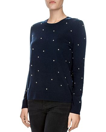 The Kooples - Embellished Wool-Blend Sweater