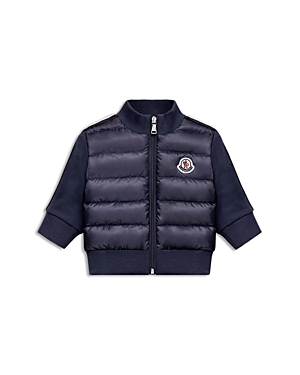 Moncler Boys Puffer Jacket with Knit Sleeves  Back  Baby