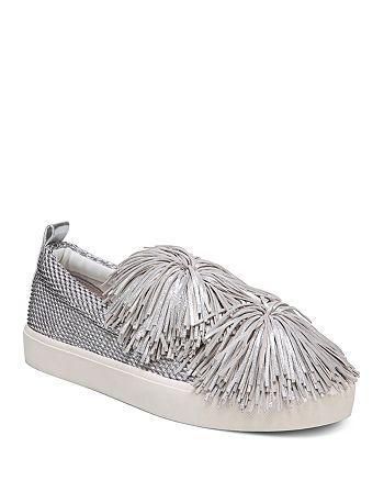 f4f515571b13a Sam Edelman Women s Emory Metallic Tassel Pom-Pom Slip-On Sneakers ...