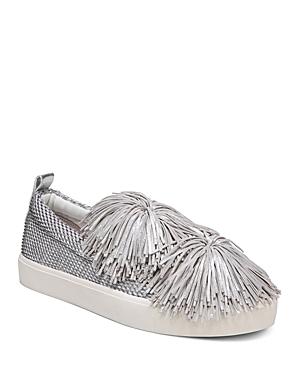 Sam Edelman Women's Emory Metallic Tassel Pom-Pom Slip-On Sneakers