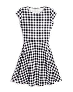 AQUA Girls' Flared Check Dress, Big Kid - 100% Exclusive - Bloomingdale's_0