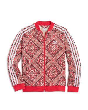 Adidas Girls' Printed French Terry Track Jacket - Big Kid