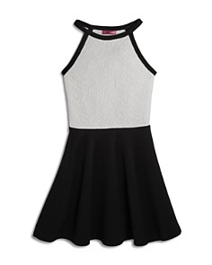 AQUA Girls' Lace-Bodice Flared Dress, Big Kid - 100% Exclusive - Bloomingdale's_0