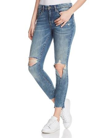 $BLANKNYC Distressed Skinny Jeans in Shot Not Blue - Bloomingdale's