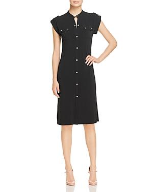 Michael Michael Kors Logo Snap Utility Shirt Dress