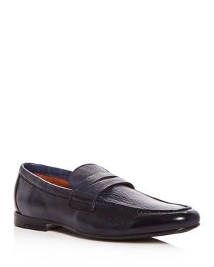 GORDON RUSH MEN'S CONNERY LEATHER MOC TOE PENNY LOAFERS
