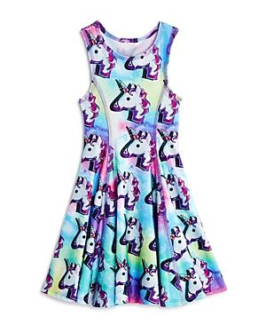 Terez Girls' Never Enough Unicorns Dress - Little Kid