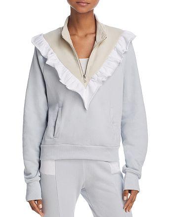 WILDFOX - Prima Ruffled Color-Block Sweatshirt