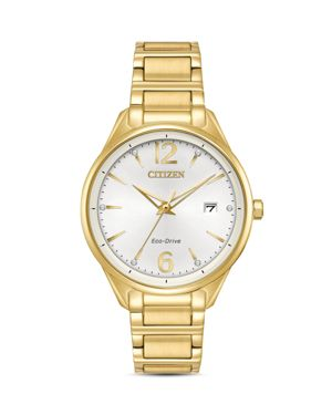 CITIZEN ECO-DRIVE WOMEN'S GOLD-TONE STAINLESS STEEL BRACELET WATCH 36MM