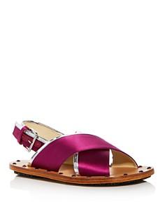 Marni - Women's Samsy Satin Crisscross Slingback Sandals