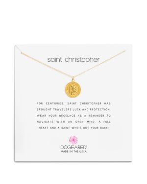 Dogeared St. Christopher Necklace, 16