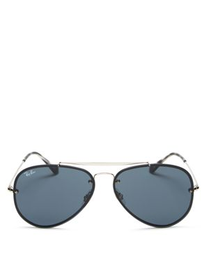 RAY-BAN WOMEN'S UNISEX BLAZE AVIATOR SUNGLASSES, 61MM - 100% EXCLUSIVE