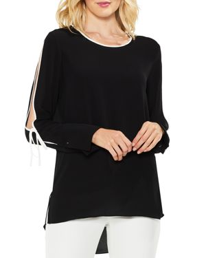 Vince Camuto Split Sleeve High/Low Blouse