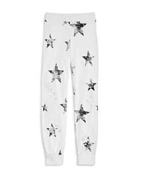 Flowers by Zoe - Girls' Distressed Star-Print Jogger Pants - Little Kid