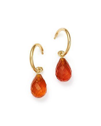 Bloomingdale's - Fire Opal Briolette Hoop Drop Earrings in 14K Yellow Gold - 100% Exclusive
