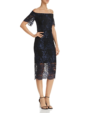 Aqua Off-the-Shoulder Lace Dress - 100% Exclusive