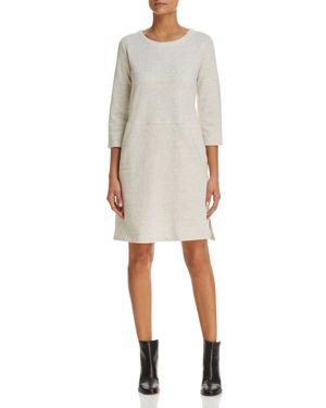Eileen Fisher Donegal Knit Sweatshirt Dress