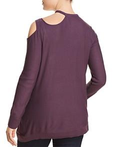 Love Scarlett Plus - Cutout-Shoulder Asymmetric-Hem Sweater