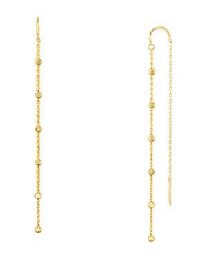 Argento Vivo Bead Station Threader Earrings