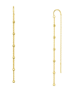 Argento Vivo Bead Station Threader Earrings