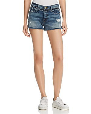 Frame Le Cut Off Released Waistband Shorts in Rookley at Bloomingdale's