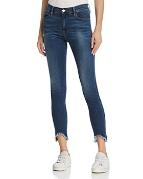 FRAME - Le High Skinny Triangle Hem Jeans in Sulham