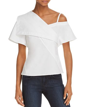 Theory - Asymmetric Cold-Shoulder Top