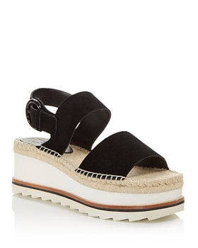 Marc Fisher LTD. - Women's Greely Suede Espadrille Wedge Platform Sandals - 100% Exclusive