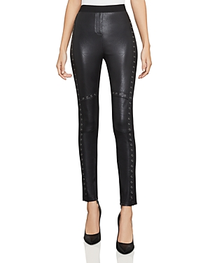 Bcbgmaxazria Beysa Grommeted Faux-Leather Leggings