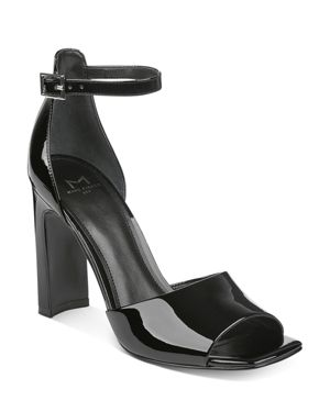 HARLIN PATENT LEATHER ANKLE STRAP SANDALS