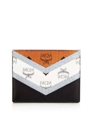MCM CHEVRON VISETOS CARD CASE - 100% EXCLUSIVE