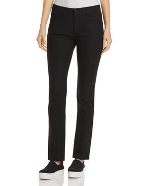 Thompson Dynamic Herringbone Jacquard Slim-Leg Jeans in Black