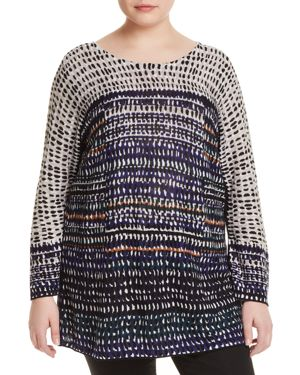 Nic+Zoe Plus New Light Dotted Stripe Top