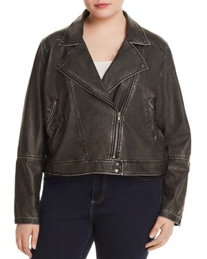Lysse Plus Jones Faux Leather Moto Jacket