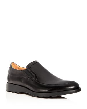 BRUNO MAGLI Men'S Vegas Leather Apron Toe Loafers in Black Leather