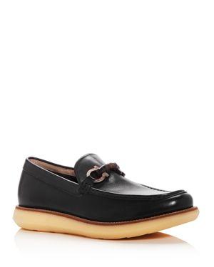 Salvatore Ferragamo Men's Carmine Leather Moc Toe Loafers 2710813