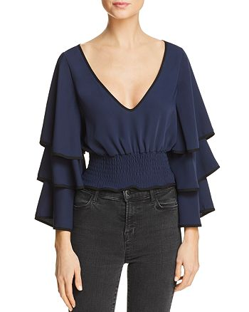 LIKELY - Sloane Ruffle-Sleeve Top