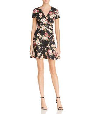 Aqua Floral Print Scuba Dress - 100% Exclusive