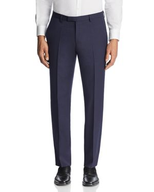 Boss Textured Micro Check Regular Fit Dress Pants