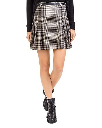 7e846eaf04 The Kooples Pleated Check-Print Skirt | Bloomingdale's