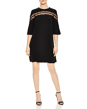 Sandro Sully Sheer Mesh-Inset Mini Dress