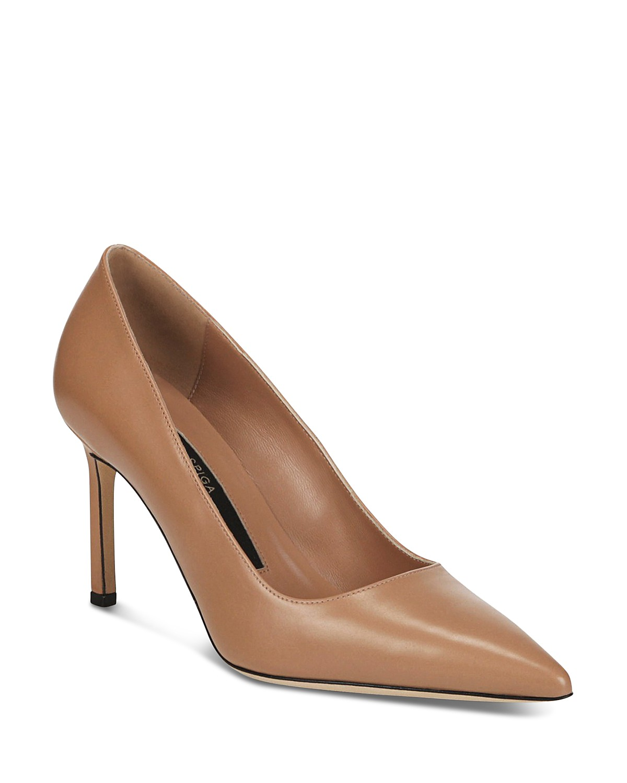 Via Spiga Women's Nikole Leather Pointed Toe High-Heel Pumps MSRO9hK