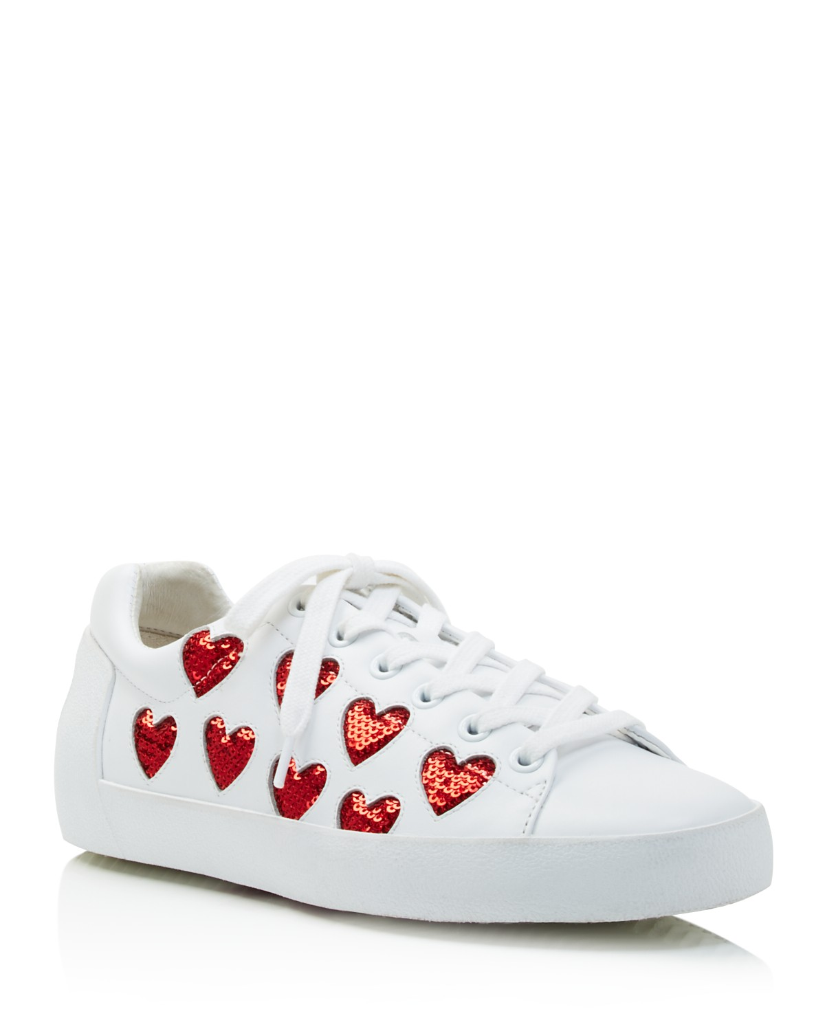Wiki Sale Discounts Ash Nikita Sequin Heart Lace Up Sneakers V7MOUrEv1a