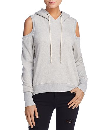 PAM & GELA - Cold-Shoulder Hooded Sweatshirt