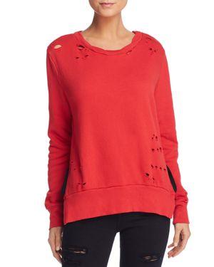 Pam & Gela Destroyed Side Slit Sweatshirt