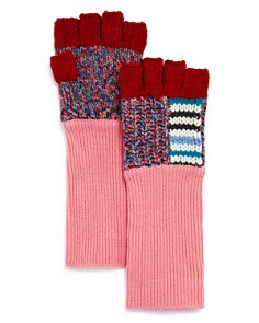 Burberry Patchwork Striped Fingerless Gloves - Bloomingdale's_0