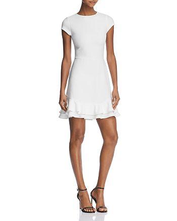 AQUA - Tiered-Hem Textured Dress - 100% Exclusive