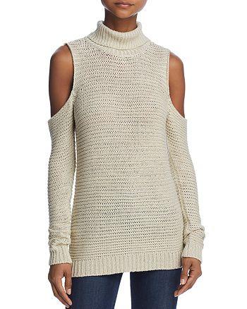 AQUA - Cold-Shoulder Turtleneck Sweater - 100% Exclusive