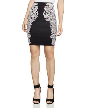 Bcbgmaxazria Natalee Floral Jacquard Pencil Skirt